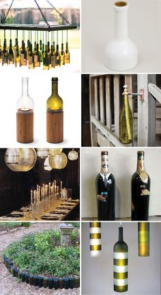 Repurposing wine bottles