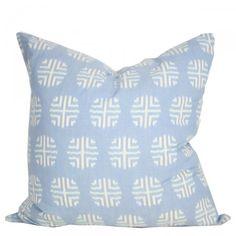 Blue Insignia Pillow - Furbish Studio