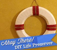 Ahoy, Baby! DIY Life Preserver Decoration | Disney Baby