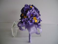 Purple Pansy Bridal/Bridesmaid Bouquet/Nosegay by parsi on Etsy