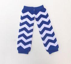Baby Leg warmers blue chevron leg warmers Fall by SouthernSister2, $7.50