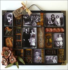 Isn't this an amazing way to remember grandparents, etc?  Vintage Halloween Tray
