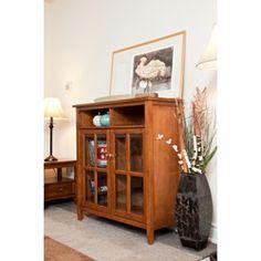 Norfolk Honey Brown Medium Storage Media Cabinet & Buffet