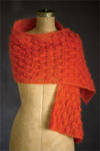 Orange Marmalade Scarf - Knitting pattern from Winter 2013 Love of Knitting