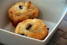 The simplest blueberry muffins. - Two Red Bowls