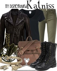 """Disney Bound - Katniss (Hunger Games) I totally know she's not Disney but, I adore this """"look""""."""