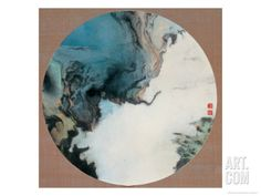 Tribute to the Paintings of the Song Dynasty: Landscape Stretched Canvas Print by Guosong Liu at Art.com,  28 x 27.5, $200