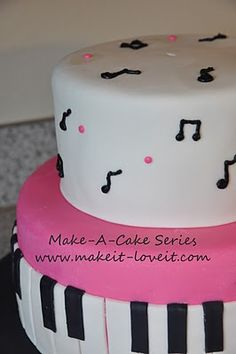 musical cakes, musicals, music cakes, music cake ideas, erin cake
