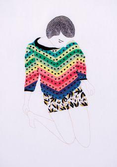 Embroidery art by Jazmin Berakha