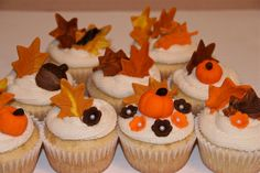 fall / thanksgiving cupcakes