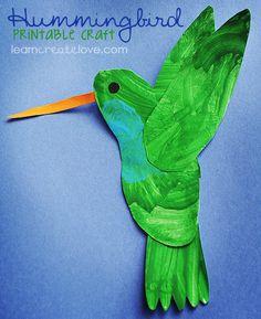 { Printable Hummingbird Craft }