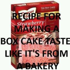 Step 1: Look at the directions on the cake mix  Step 2: Add one more egg (or add 2 if you want it to be very rich  Step 3: Use melted butter instead of oil and double the amount  Step 4: Instead of water, use milk.  Step 5: Mix well and bake for the time recommended on the box.