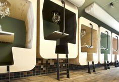 funky restaurant booths