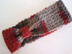 Crocheted Winter Headband FREE Pattern.