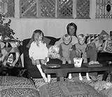Rick Nelson at home with wife Kris, twins Gunner and Matthew and daughter Tracey, c. 1970