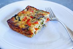 Roasted Vegetable Crustless Quiche with Basil & Pine Nuts | Favorite ...