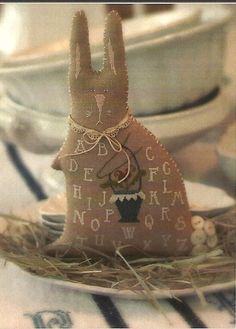 Primitive Folk Art Cross Stitch Sampler Pattern by PrimFolkArtShop, $7.00