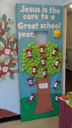 Another great door decoration idea. // Preschool back to school door