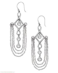 #Deco #decadence! You've found your link to the #art deco era with these #exquisite #Sterling #Silver and #Cubic #Zirconia #Earrings. #Silpada