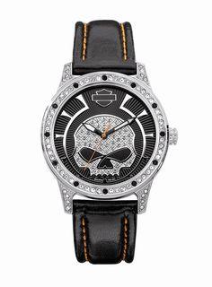 Womens Harley Davidson Swarovski Crystal Watch by Bulova 76l140