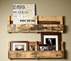Wood crate shelves. Nice! by kathy