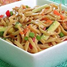 Shanghai Noodle Salad | Enjoy this tangy summertime salad on your next picnic or with a steak at the family cookout.