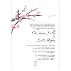 Cherry Blossom Wedding Invitations - Stylishly Symbolic http://thingsfestive.blogspot.com/2012/08/cherry-blossom-wedding-invitations.html