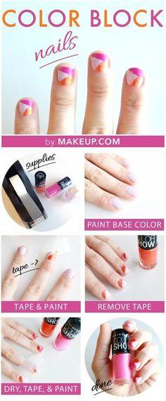 Color Block DIY Manicure