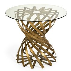 Imax Marceau Accent Table With Glass Top