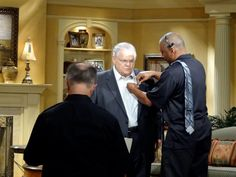 Behind the Scenes at one of Pastor John Hagee's video shoots