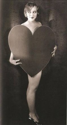 Classic Sally Rand, burlesque queen known for dancing behind feathers and bubbles...and here, her heart.