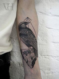 Tattoo: Valentin Hirsch - Stefan / Crow