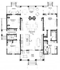 First Floor of Ezzie Pearl Dogtrot. Plan available from Hot Humid Solutions