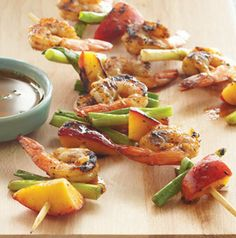 A customer told us these Cajun Shrimp and Peach Kabobs are so good they eat them directly off the grill. They never made it to the table! Now that's saying something. kabobs, creol recip, peach kabob, louisiana food, grill, favorit recip, cajun shrimp, shrimp kabob, peaches