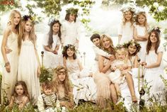 wedding parties, boho chic, wedding styles, crown, reception ideas, romantic weddings, flower girls, floral wreaths, kate moss
