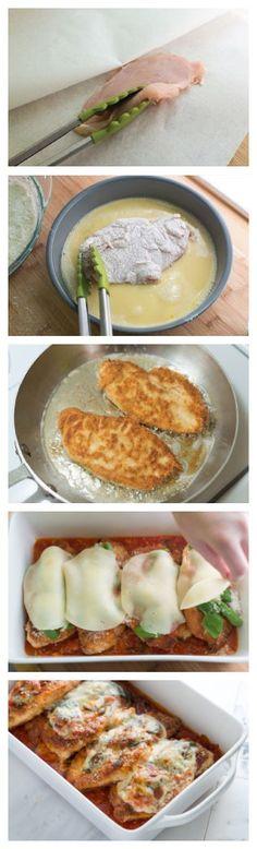 Chicken Parmesan Recipe on Inspired Taste at http://www.inspiredtaste.net/22178/chicken-parmesan-recipe/