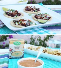 Easy bean & queso tostada recipe - yum! by @hostesstori