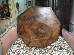 Parquet table top.