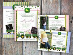 john deer baby shower, shower invitations, john deere baby shower invites, shower idea, tractor