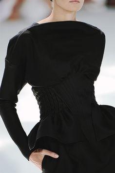 fallwint 2008, 2008 coutur, detail, fashion, style, dress, runway, chanel fallwint, black