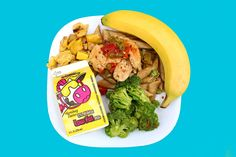 Chicken Cacciatore over Whole Wheat Pasta, Asian Broccoli, Roasted Yellow Squash, Fresh Banana and Milk.   Get the recipe for Asian Broccoli, winner of Fresh Feature Friday at our schools, here: http://www.pinterest.com/pin/331155378821481537/
