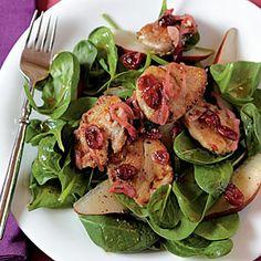 Pork Tenderloin, Pear, and Cranberry Salad   MyRecipes.com
