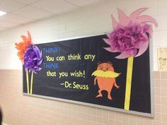 Dr. Seuss bulletin board. #march #drsuess. Best bulletin board EVER!