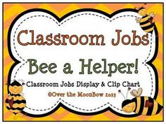This adorable bee themed classroom jobs clip chart will help make classroom management a breeze!