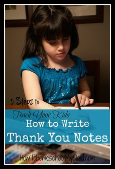 how to write thank you notes - 30 days of thanksgiving activities for kids ~ HowToHomeschoolMyChild.com