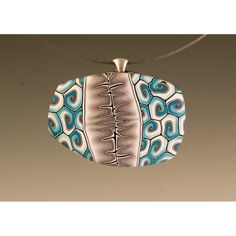 Pendant in Shades of Turquoise and Gray with by MelanieWestRaven,