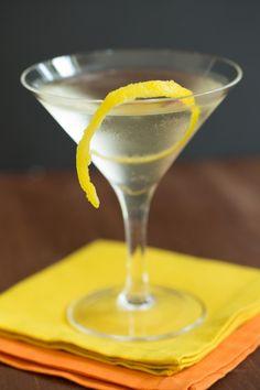 Corkscrew 1 1/2 ounces light rum 1/2 ounce peach schnapps 1/2 ounce dry vermouth Lemon spiral, to garnish