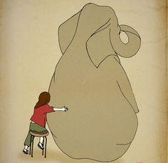 The+Elephant+Archival+Art+Print+12x16+nursery+poster+by+LeniSomnia,+$36.00