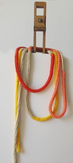 Crochet Necklace! Love
