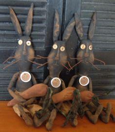 Primitive Ugly Bunny Doll Set...
